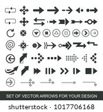 different black arrows icons ... | Shutterstock .eps vector #1017706168