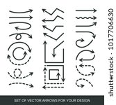 different black arrows icons ... | Shutterstock .eps vector #1017706630