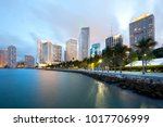 skyline of city downtown and... | Shutterstock . vector #1017706999