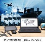 transportation  import export... | Shutterstock . vector #1017707218