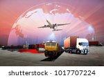 transportation  import export... | Shutterstock . vector #1017707224