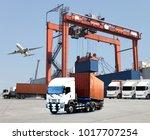 transportation  import export... | Shutterstock . vector #1017707254