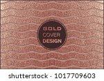 grunge design. copper glossy...   Shutterstock .eps vector #1017709603