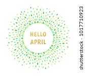 hello april spring illustration.... | Shutterstock .eps vector #1017710923