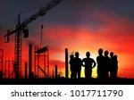 group of  engineer on working... | Shutterstock . vector #1017711790