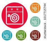 calendar target icons circle...