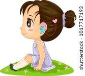 illustration of a kid girl... | Shutterstock .eps vector #1017717193