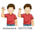 illustration of a kid boy... | Shutterstock .eps vector #1017717298