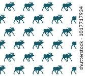 elk seamless pattern   Shutterstock .eps vector #1017717934