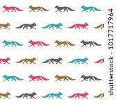 fox seamless pattern.    Shutterstock .eps vector #1017717964