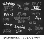 the set of 16 inscriptions for...   Shutterstock .eps vector #1017717994