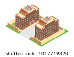 isometric building school ... | Shutterstock .eps vector #1017719320