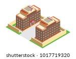 isometric building school ...   Shutterstock .eps vector #1017719320
