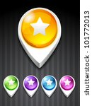 vector start icon in 5... | Shutterstock .eps vector #101772013