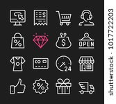 ecommerce line icons. modern... | Shutterstock .eps vector #1017722203