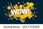 creative social media greeting... | Shutterstock . vector #1017722209