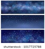 vector starry sky   banners. ... | Shutterstock .eps vector #1017725788