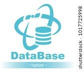 database icon. simple flat logo ...