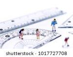 miniature people   children and ... | Shutterstock . vector #1017727708