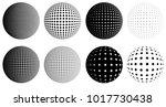 halftone dotted raster globes ... | Shutterstock .eps vector #1017730438