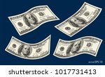 dollar banknotes  us currency... | Shutterstock .eps vector #1017731413