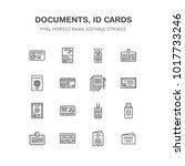documents  identity vector flat ... | Shutterstock .eps vector #1017733246