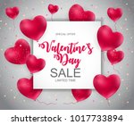 valentines day sale  discont... | Shutterstock . vector #1017733894
