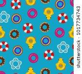 inflatable float rubber ring... | Shutterstock .eps vector #1017734743