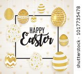 happy easter cute background... | Shutterstock . vector #1017735478