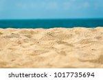 beautiful sand beach | Shutterstock . vector #1017735694