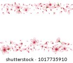 cute blossom elements  apple or ... | Shutterstock .eps vector #1017735910