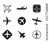 plane icon set. airplane... | Shutterstock .eps vector #1017738868