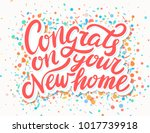 congrats on your new home     Shutterstock .eps vector #1017739918
