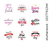 fourteenth february lettering... | Shutterstock .eps vector #1017741244