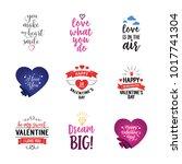 love phrase from heart...   Shutterstock .eps vector #1017741304