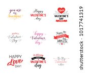 love and valentines day... | Shutterstock .eps vector #1017741319
