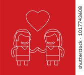 lovers icon  vector... | Shutterstock .eps vector #1017743608
