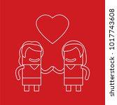 lovers icon  vector... | Shutterstock .eps vector #1017743608