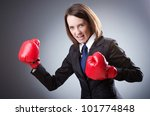 young businesswoman in boxing... | Shutterstock . vector #101774848