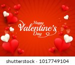 illustration of valentines day... | Shutterstock .eps vector #1017749104