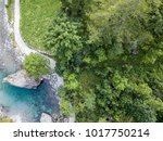 aerial view of the giant rock... | Shutterstock . vector #1017750214