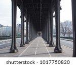 famous paris bridge | Shutterstock . vector #1017750820