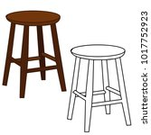 isolated wooden chair  chair... | Shutterstock .eps vector #1017752923