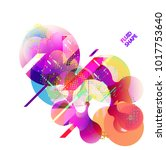 fluid color background. liquid... | Shutterstock .eps vector #1017753640