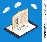 online education isometric... | Shutterstock .eps vector #1017754069