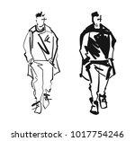 fashion man model silhouettes...