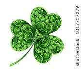 decorative clover leaf talisman.... | Shutterstock .eps vector #1017757279