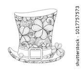 leprechaun vintage top hat... | Shutterstock .eps vector #1017757573