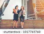 business woman working together.... | Shutterstock . vector #1017765760