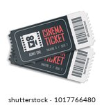 two cinema vector tickets... | Shutterstock .eps vector #1017766480